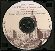 History of Texas From Wilderness to Commonwealth - In 5 Volumes - Holiday SALE