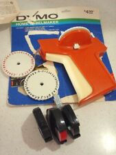 "DYMO Label Maker 3/8"" & 1/4"" - Red Tape Inside - Extra Tape + Extra Print Wheels"