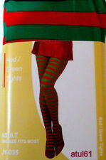 5b807f742a4f1 Adult Ladies Stripe Tights Red and White Halloween Fancy Dress Costume  Accessory