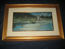 LAND OF SPARROW HAWK PEOPLE - HAND SIGNED FRANK MCCARTHY LIMITED EDITION  FRAMED