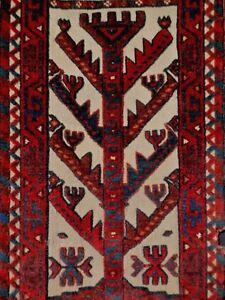 Splendid 19thC Antique YOMUD Turkoman 9' long Tent Band Fragment. A+ Dyes & Cond
