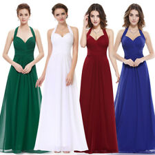 Ever-Pretty Formal Evening Prom Ball Gown Halter Long Bridesmaid Dresses 08487