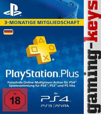 PSN Karte DE 90 Tage 3 Monate PLUS PlayStation Network Card - PSN PS4 PS Vita