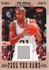 2007-08 Fleer Basketball Feel The Game Jersey #Fg-Td Tim Duncan