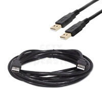 3ft USB 2.0 Type A Male to A Male Cable Black