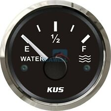 KUS Marine Water Level Gauge Boat Water Tank Level Indicator 52mm 0-190ohms