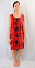 Vintage 80's JAMS WORLD Hawaiian Red Jolie Print Dress Size Small Made in Hawaii