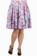 Knee Length Cotton Pleated, Kilt Floral Skirts for Women
