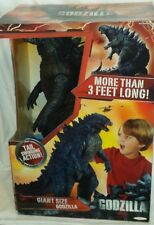 "JAKKS GODZILLA Monster GIANT SIZE 24"" tall 3' long Deluxe tail swinging action"