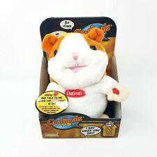 "The Original Chatimals Plush Toy Hamster 7.5"" NIP Orange/white Repeats You"