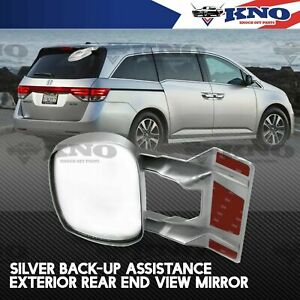 FIT JDM CARS! EXTERIOR BACKUP BLIND SPOT WIDE-ANGLE REAR END VIEW MIRROR SILVER