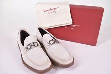 Salvatore Ferragamo NWB Master Loafers in Rope Buc Suede Size 11D $560