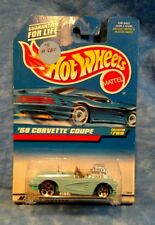 HOT WHEELS '58 CORVETTE COUPE CONVERTIBLE 1997 Mint in Package Blue #780