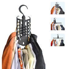 Space Saver Folding Multi Clothes Hanger Rack Hook Closet Wardrobe Organizer
