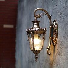 Vintage Glass Wall Sconce LED Lamp Brown Chandelier Lighting Outdoor Wall Lights