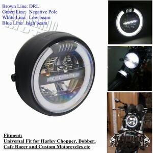 Motorcycle E-Mark E8 LED DRL Headlight Daytime Running Light For Cafe Racer