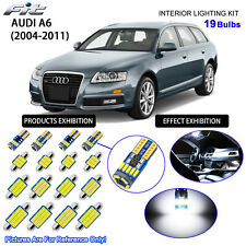 19 Bulbs LED Interior Light Kit Cool White For C6 2004-2011 AUDI A6 S6 RS6 Avant