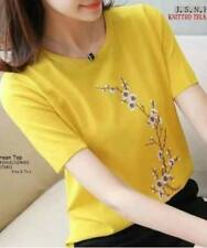 Korean Cherry Blossom Shirt (Yellow)