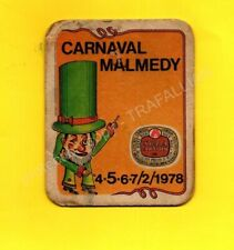 ancien sous-bock STELLA ARTOIS Carnaval Malmedy (envoi monde gratuit) sb2202