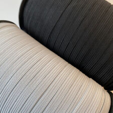 """Elastic Trim 1/8"""" 3/16"""" 7/32"""" 1/4"""" 3/8"""" 1/2"""" inch Black/White for Sewing"""