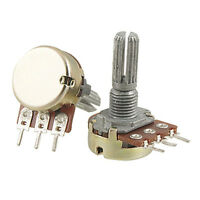 2 Pcs B200K 200K ohm Single Linear Taper Rotary Potentiometers