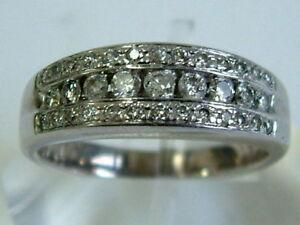 STUNNING 18CT WHITE GOLD LADIES DIAMONDS BAND HALF ETERNITY STYLE RING - 0.50 CT