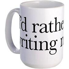 11oz mug I'd rather be writing music shirt design