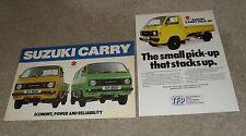 Suzuki Carry Brochure 1979 - ST80K & ST80V + Pcik Up flyer