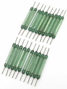 Glass Magnetic Reed Switches, N.O., 1 Amp, 30mm, 20pcs