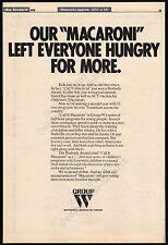 CALL IT MACARONI__Original 1976 Trade AD / Children's TV series promo / poster