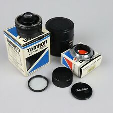 Tamron 28mm f/2.5 MF Lens for Nikon Adaptall 2 with adapter and caps