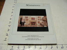 Vintage Collector book--MINIATURES smithsonian book, 1983:127 pgs CLEAN w jacket