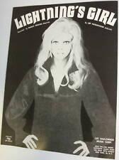 NANCY SINATRA Sheet Music LIGHTNING'S GIRL 60's POP Lee HAZLEWOOD Sexy PIC
