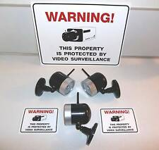 Fake Store Home Security Surveillance Video Camera System+Warning Yard Sign Lot