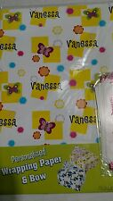 Personalized birthday gift wrap wrapping spring butterflies Nip Vanessa