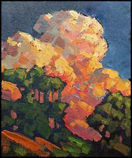 Wm HAWKINS Original Landscape Clouds Impressionism Study Art Oil Painting Signed
