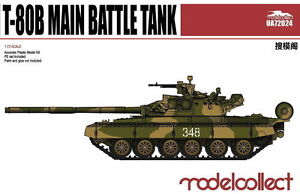 Modelcollect 1/72 Kits T-80B Main Battle Tank UA72024