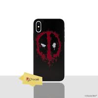 Marvel Coque/Étui/Case Pour Apple iPhone X/10 / 3D Silicone / Deadpool - Logo