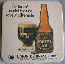 Sous-bock bière PORTER 39 CL 2550