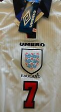 RARE NWT Authentic Umbro 1997 England Beckham Jersey Manchester united XL