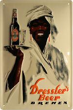 Blechschild Bier Beer Dressler Bremen Retro geprägt 20x30 Reklame Vintage 472