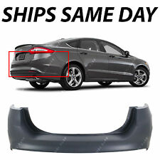 NEW Primered -- Rear Bumper Cover Replacement For 2013-2018 Ford Fusion w/o Park