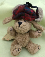 """VTG Boyds Bears Plush INDY in Red Plaid Hat  Archive Great USED Cond. W/Tags 6"""""""