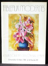 Catalogue vente Versailles Martin mars 1981 Tableaux modernes TBE