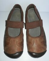 KEEN Women's 9.5 Sienna Mary-Jane Brown Leather Suede Flats Shoes EU 40