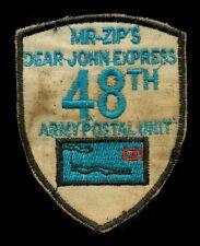 US Army 48th Army Postal Unit Dear John Express Vietnam Patch F-1