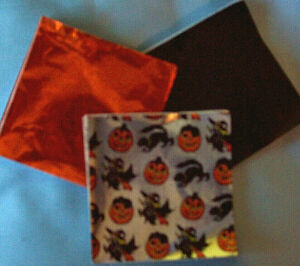 HALLOWEEN, ORANGE AND BLACK VARIETY PACK CHOCOLATE FOIL WRAPPING - 50 sheets