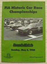 BRANDS HATCH 5 May 1985 FIA HISTORIC CAR RACE CHAMPIONSHIPS A4 Programme