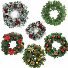 Christmas Artificial Wreath - Plain or Decorated