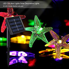 Outdoor Solar Power Decorative String Lights 30 LED 20 ft (Starfish-Multicolor)